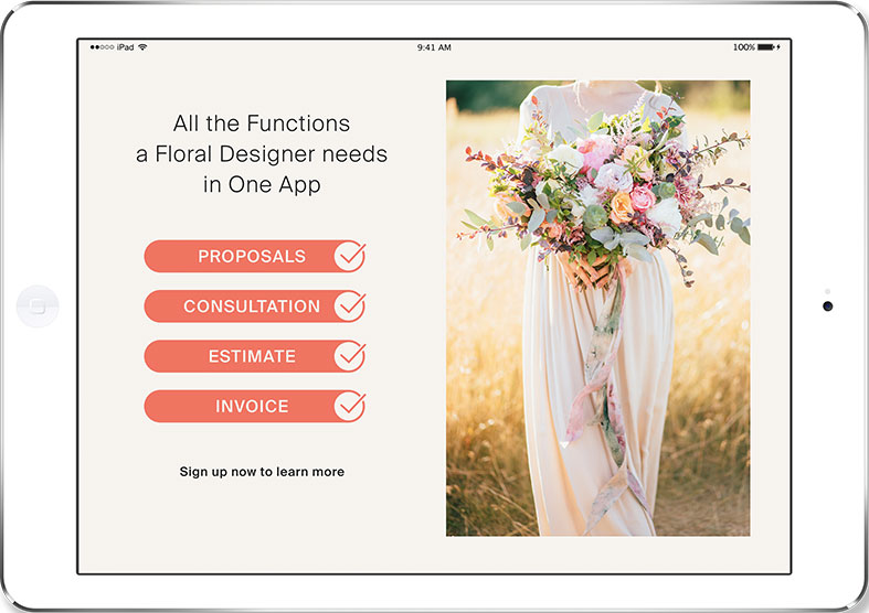 BloomsBy Wedding Floral Management Software on Mac Desktop
